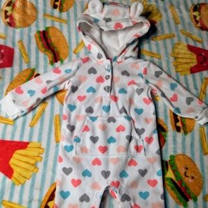 Other - Carter's soft warm 12 month romper hearts outfit
